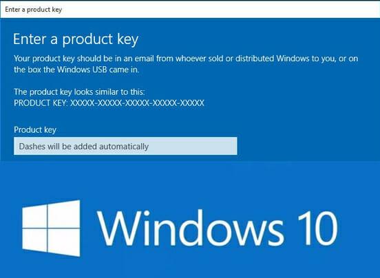 Serial windows 10 pro product key