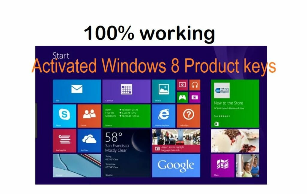 activated windows product keys