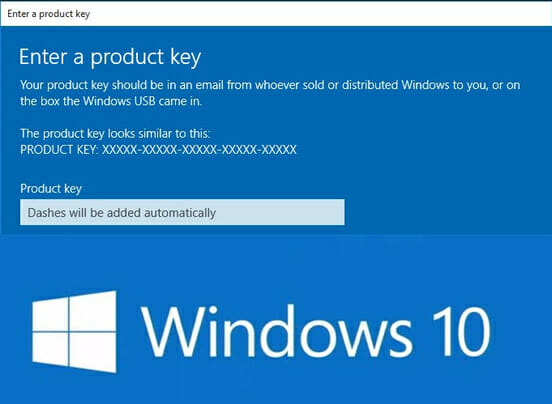 identify windows 10 version from product key