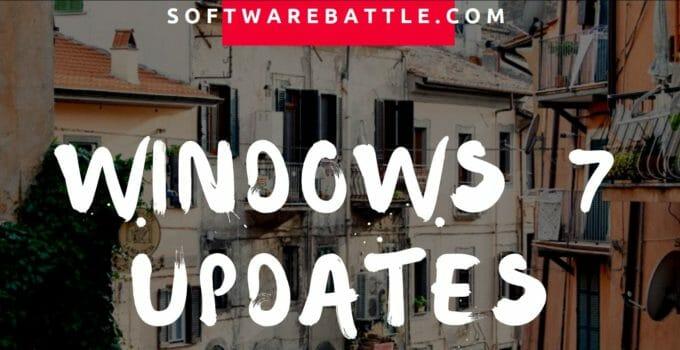 windows 7 updates, update windows 7