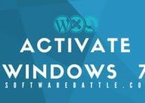 Activaye Windows 7, Windows 7 activation