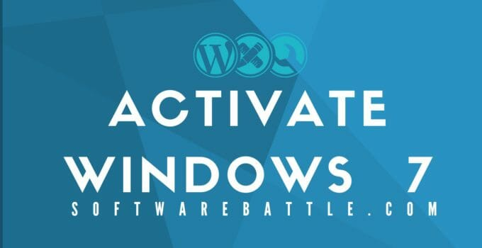 Activaye Windows 7, Windows 7 activation