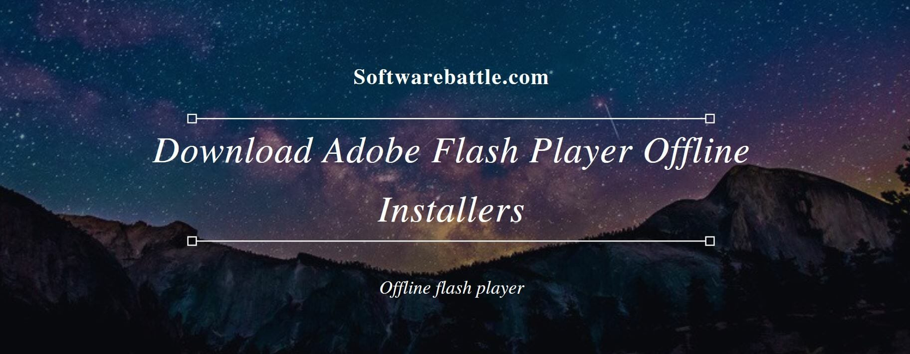 adobe flash player free download standalone installer