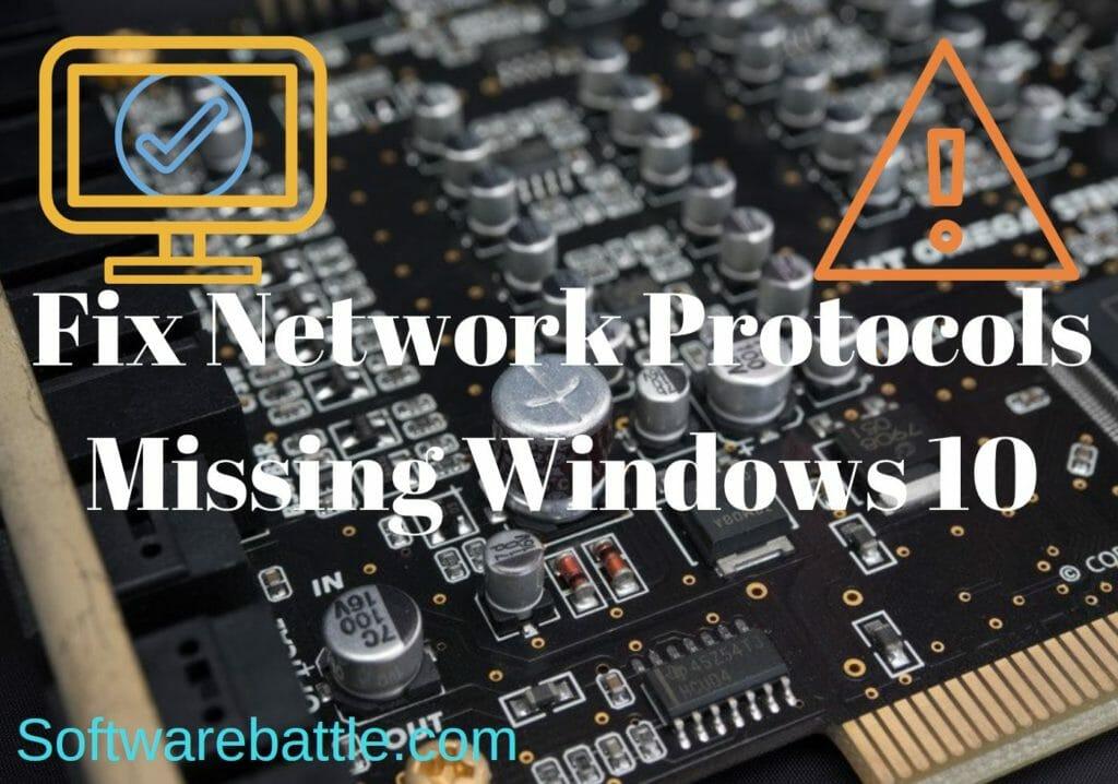 fix network protocol error windows 10