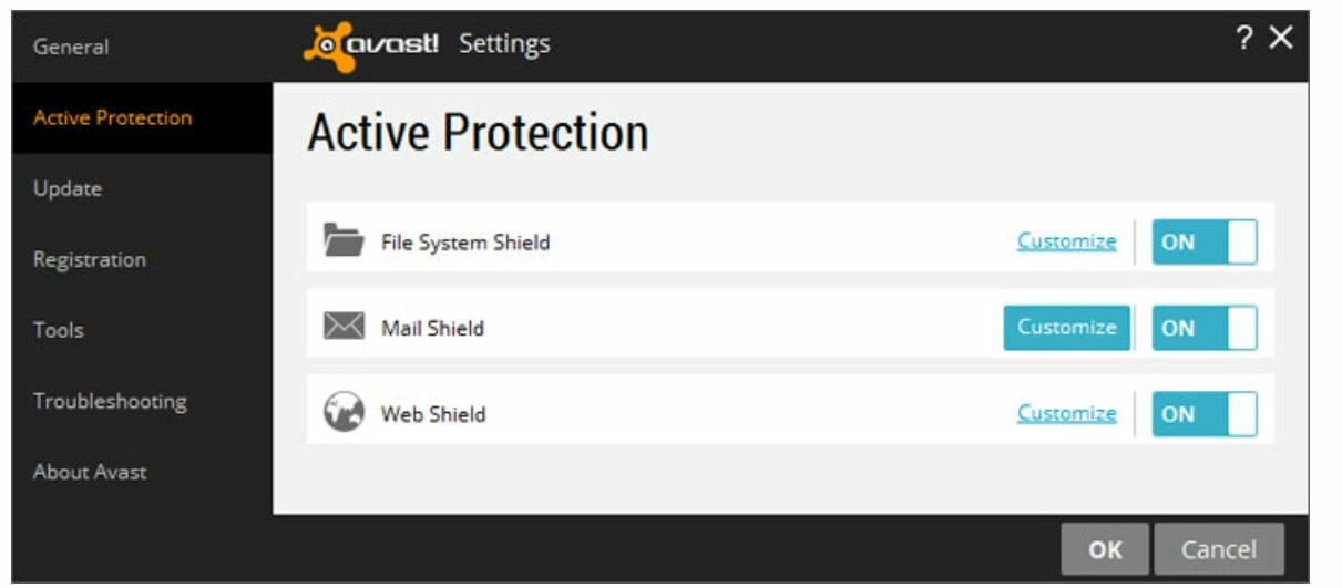 active protection- avast