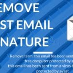 remove email signature from avast
