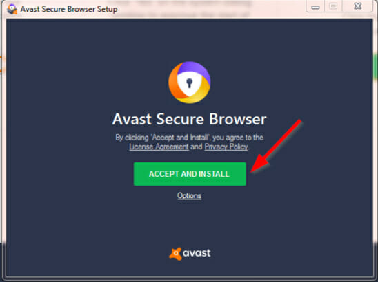 install avast secure browser