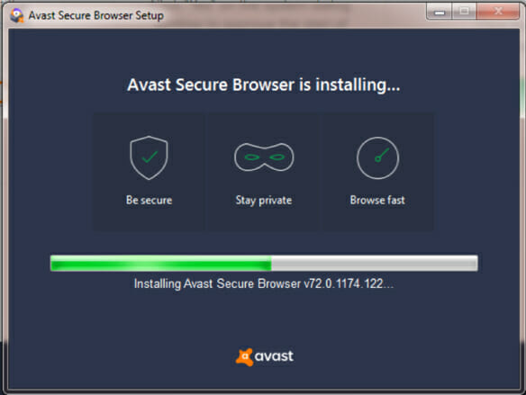installing avast secure browser