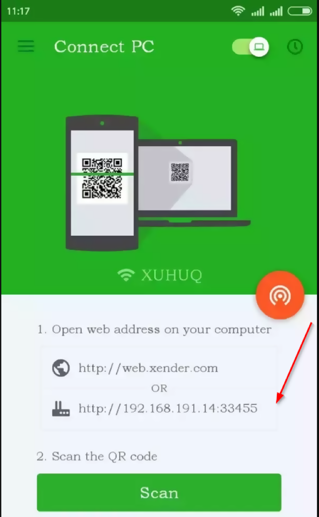 connect xender on wifi hotspot