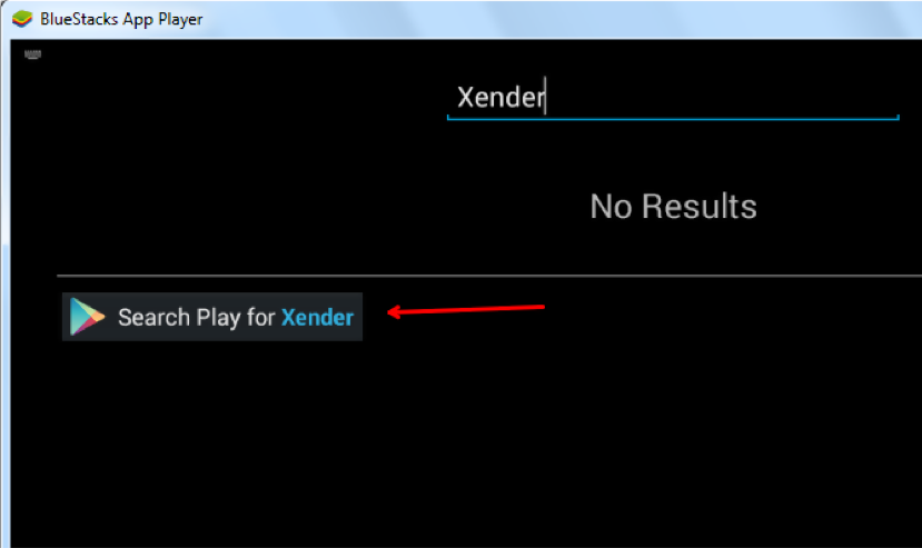 find xender using bluestacks app player
