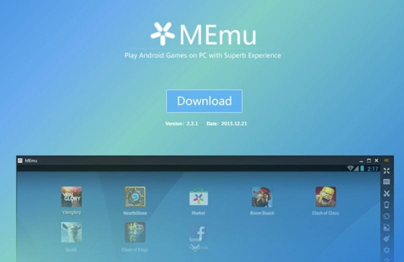 memu android emulator for windows xp