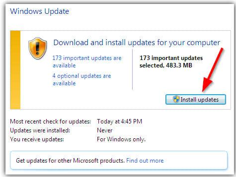 install updates