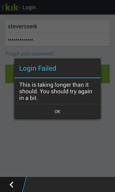 kik app stops working