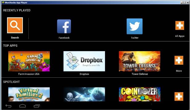 search icon bluestack emulator