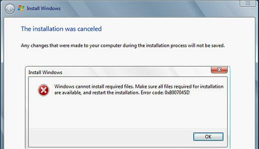 Fix Error 0x8007045D