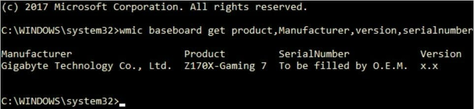 What Motherboard Do I Have? Check Using Command Prompt