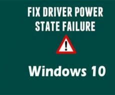 Driver-Power-State-Failure